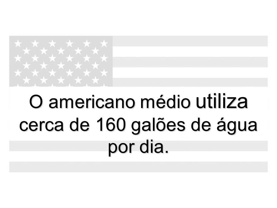 O americano médio utiliza cerca de 160 galões de água por dia.