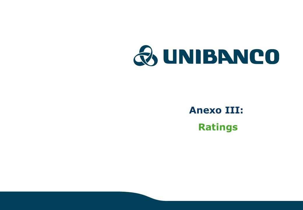 Anexo III: Ratings