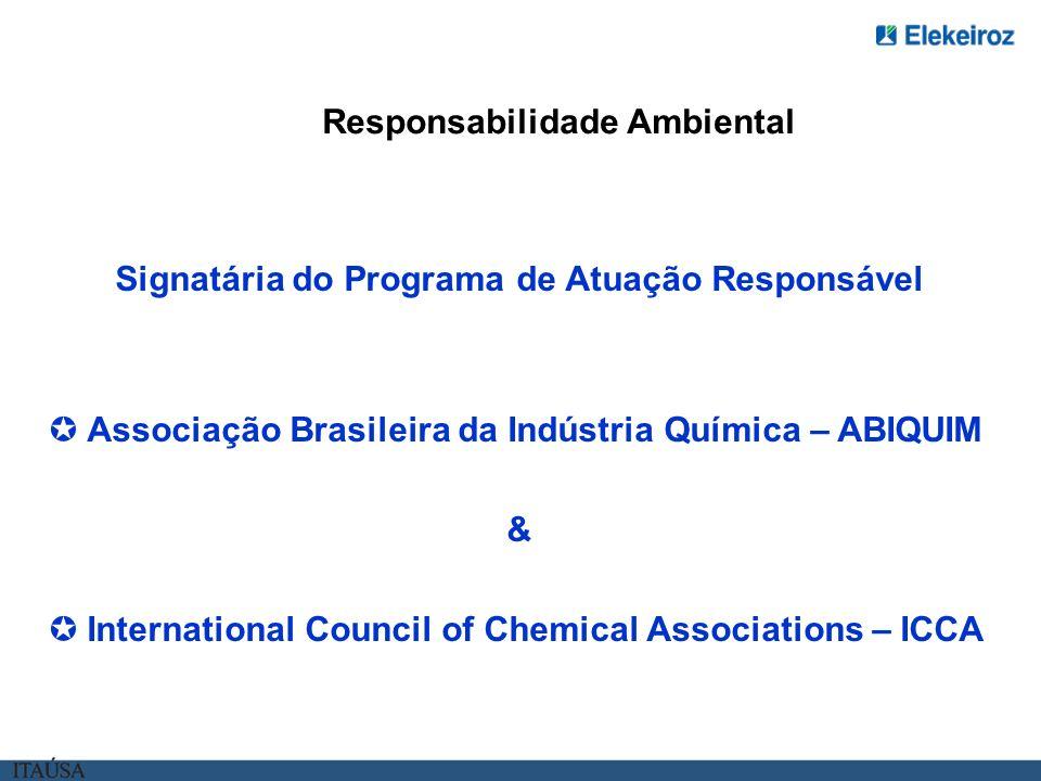 Signatária do Programa de Atuação Responsável