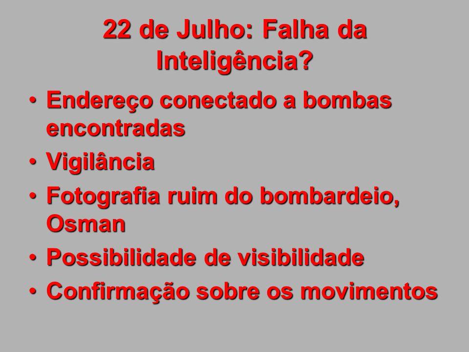 22 de Julho: Falha da Inteligência