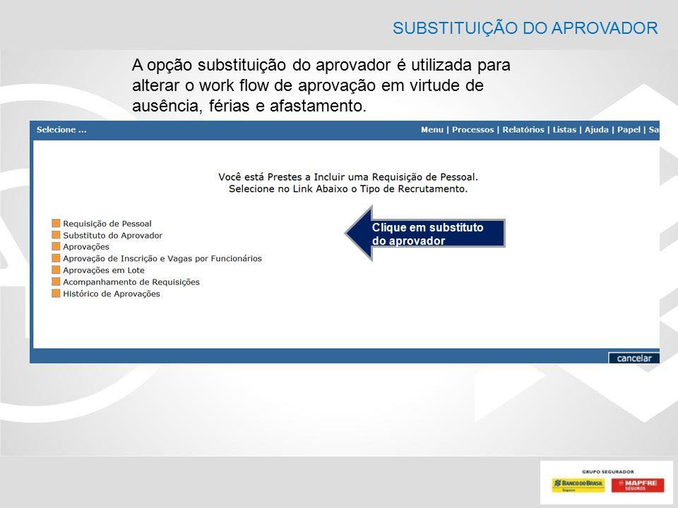 SUBSTITUIÇÃO DO APROVADOR