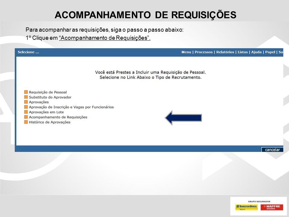 ACOMPANHAMENTO DE REQUISIÇÕES