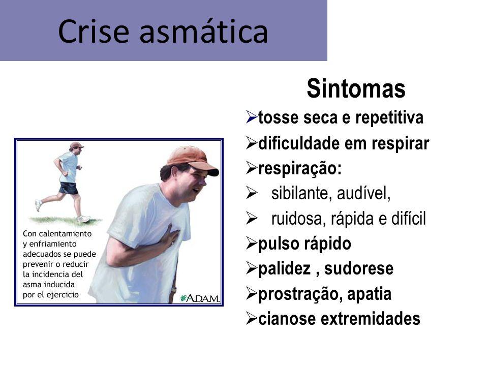 Crise asmática Sintomas tosse seca e repetitiva