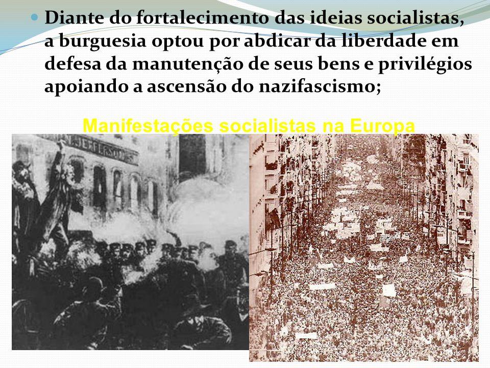 Manifestações socialistas na Europa