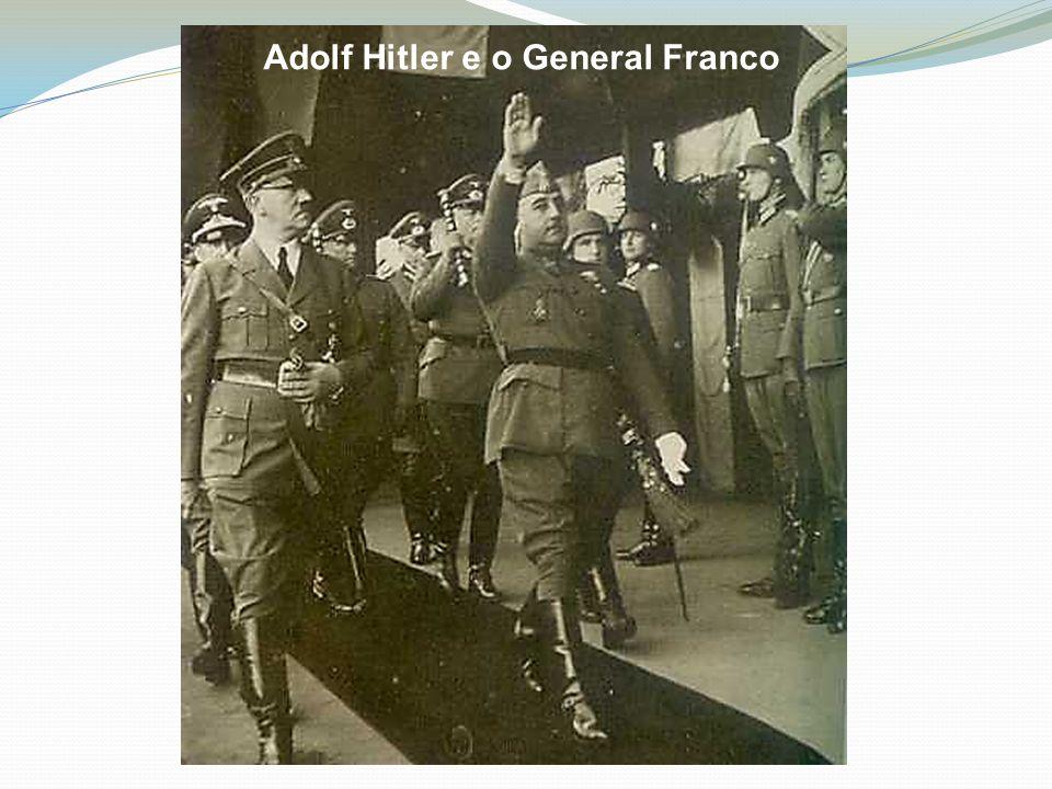 Adolf Hitler e o General Franco