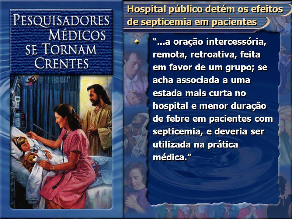 Hospital público detém os efeitos de septicemia em pacientes