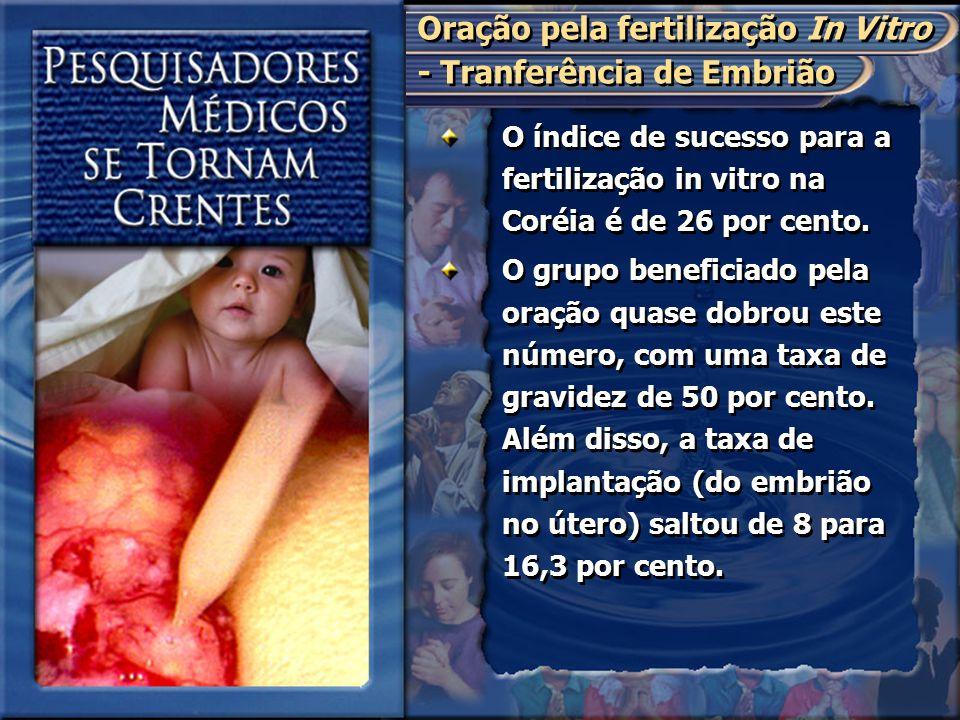 Oração pela fertilização In Vitro - Tranferência de Embrião