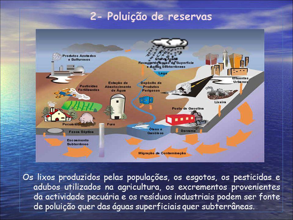 2- Poluição de reservas