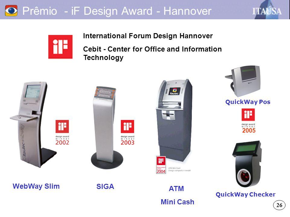 Prêmio - iF Design Award - Hannover