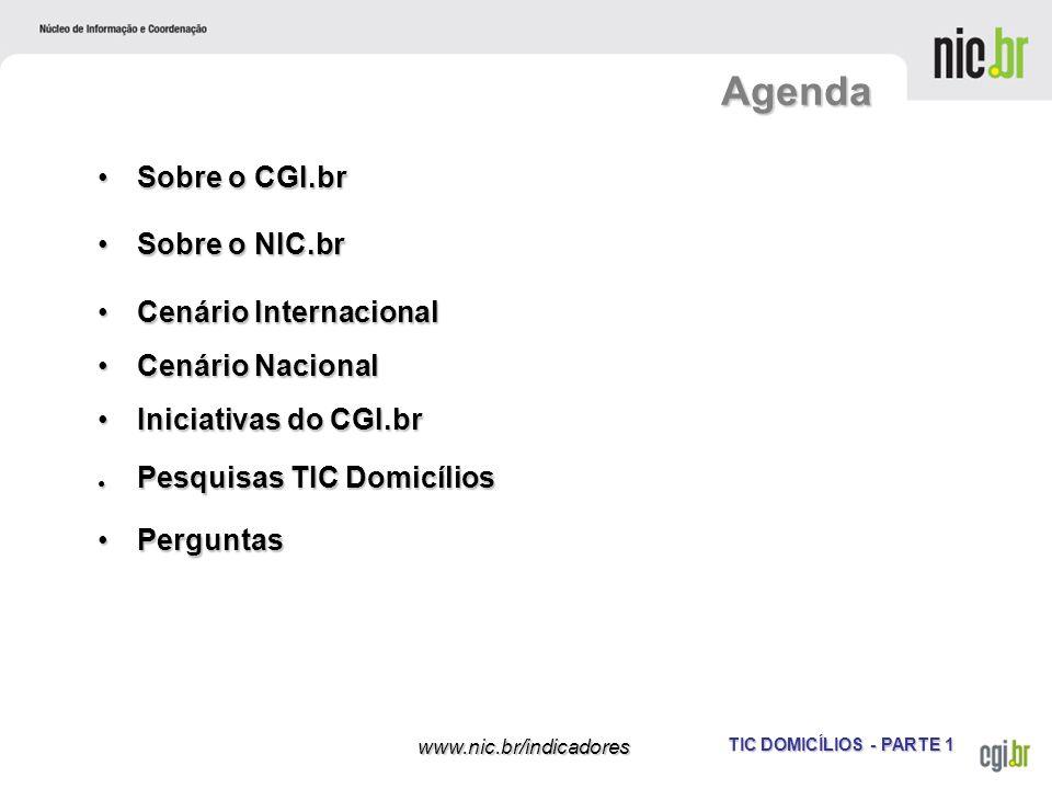 Agenda Sobre o CGI.br Sobre o NIC.br Cenário Internacional