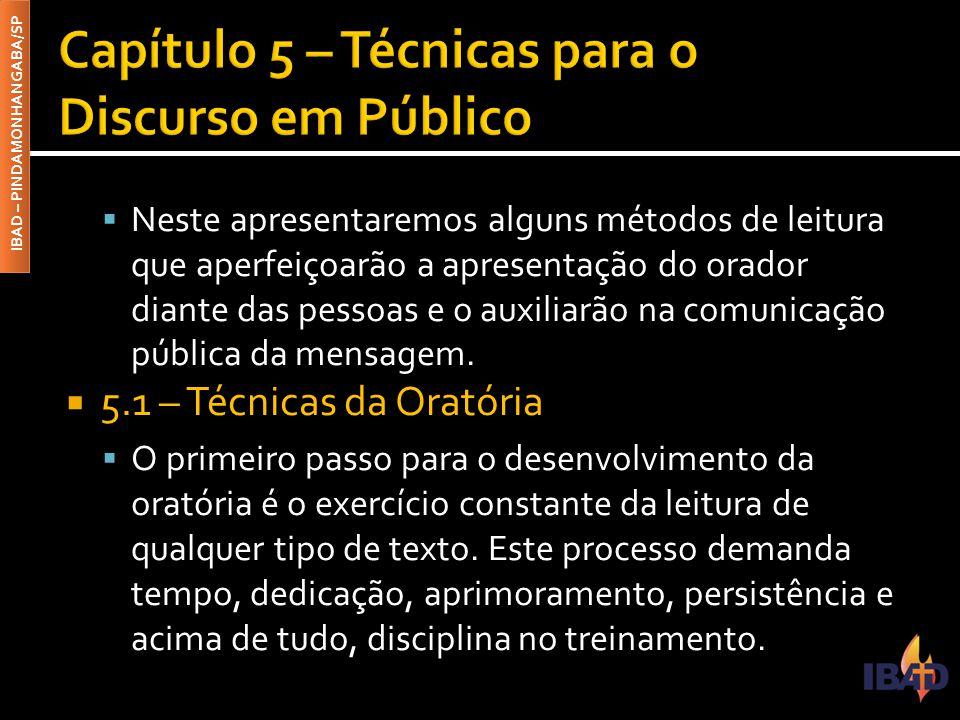 Capítulo 5 – Técnicas para o Discurso em Público
