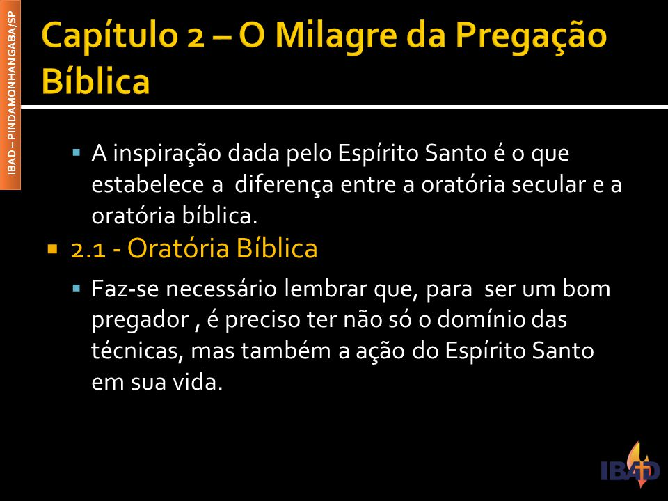 Capítulo 2 – O Milagre da Pregação Bíblica