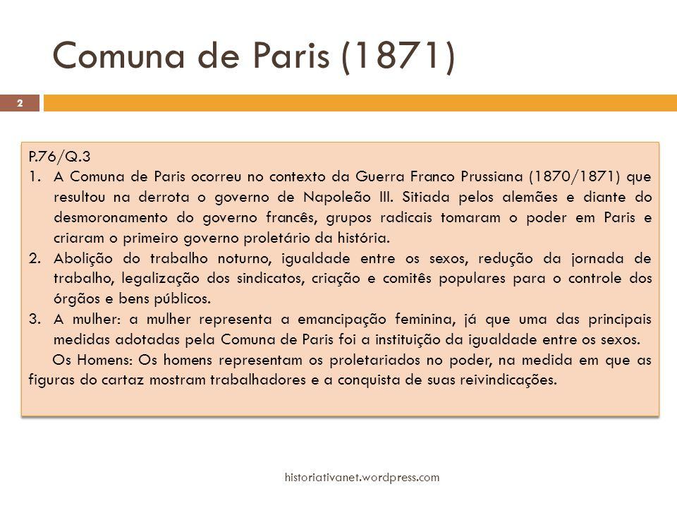 Comuna de Paris (1871) P.76/Q.3.