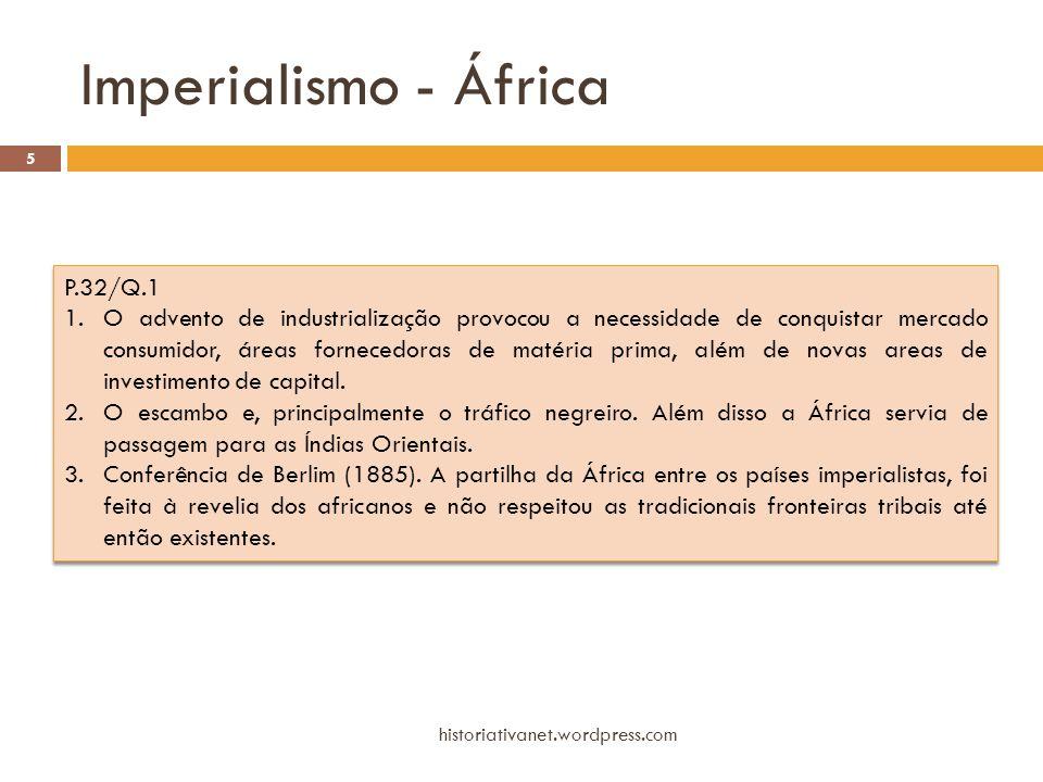 Imperialismo - África P.32/Q.1