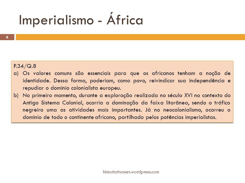 Imperialismo - África P.34/Q.8
