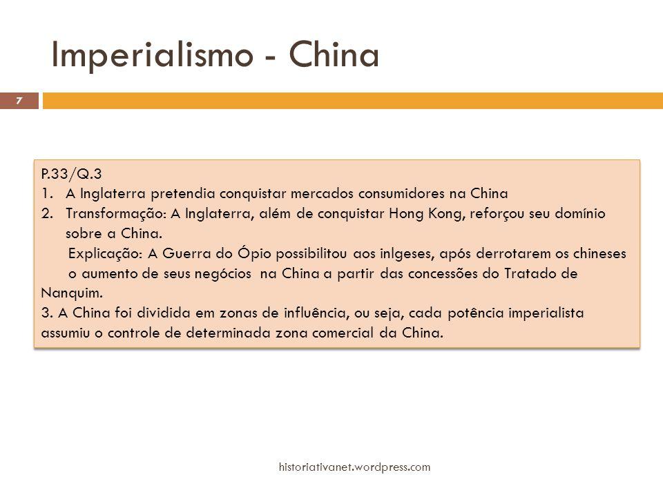Imperialismo - China P.33/Q.3