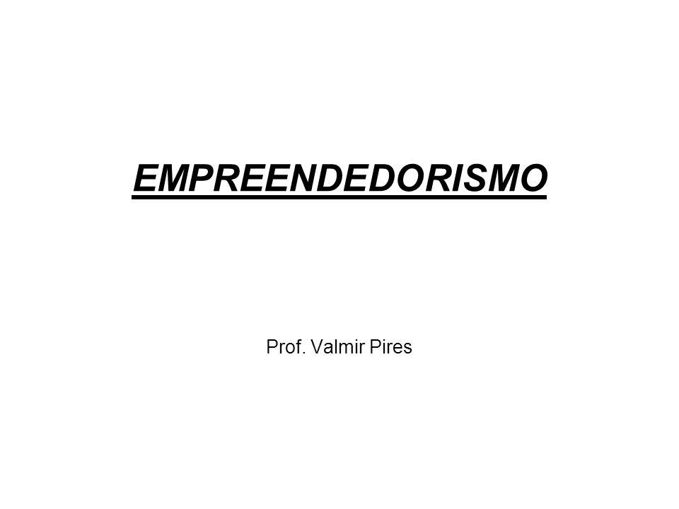 EMPREENDEDORISMO Prof. Valmir Pires