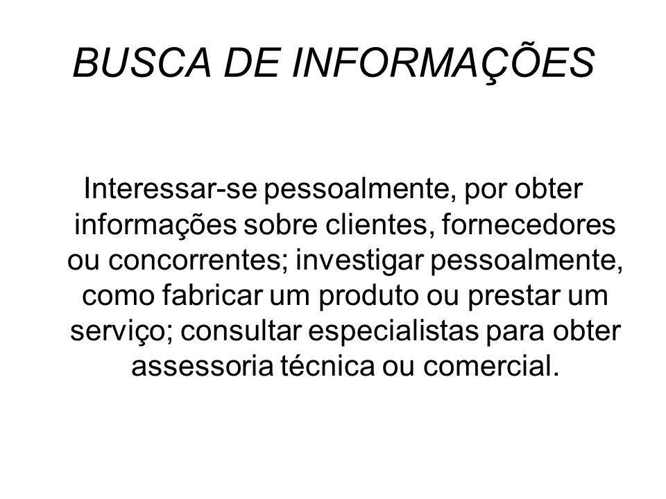 BUSCA DE INFORMAÇÕES