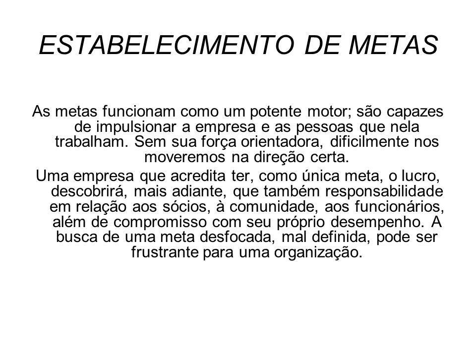 ESTABELECIMENTO DE METAS