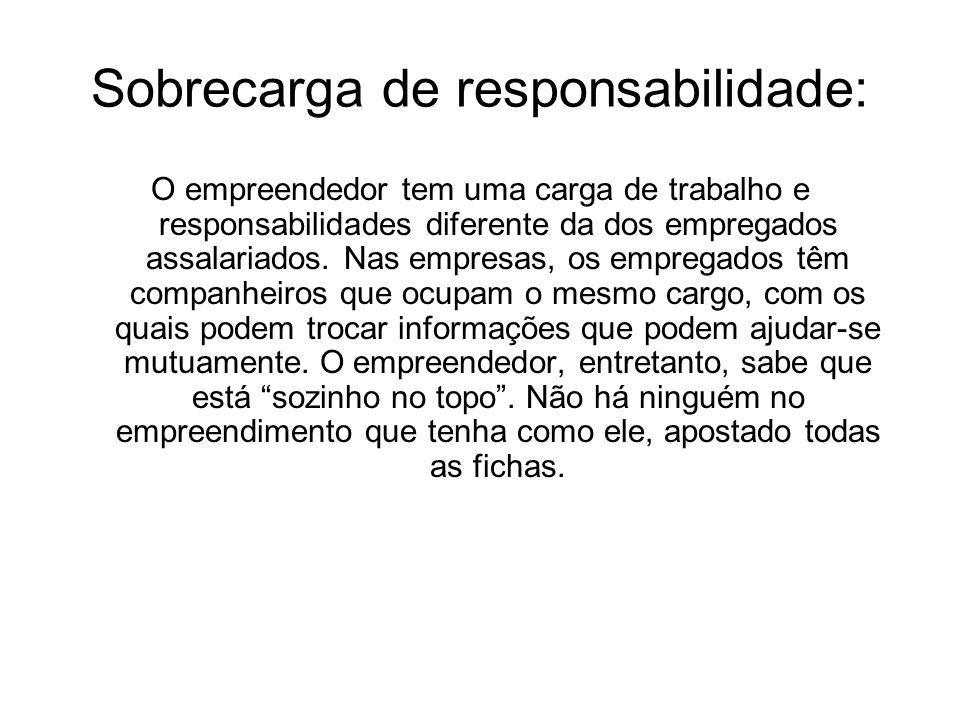 Sobrecarga de responsabilidade: