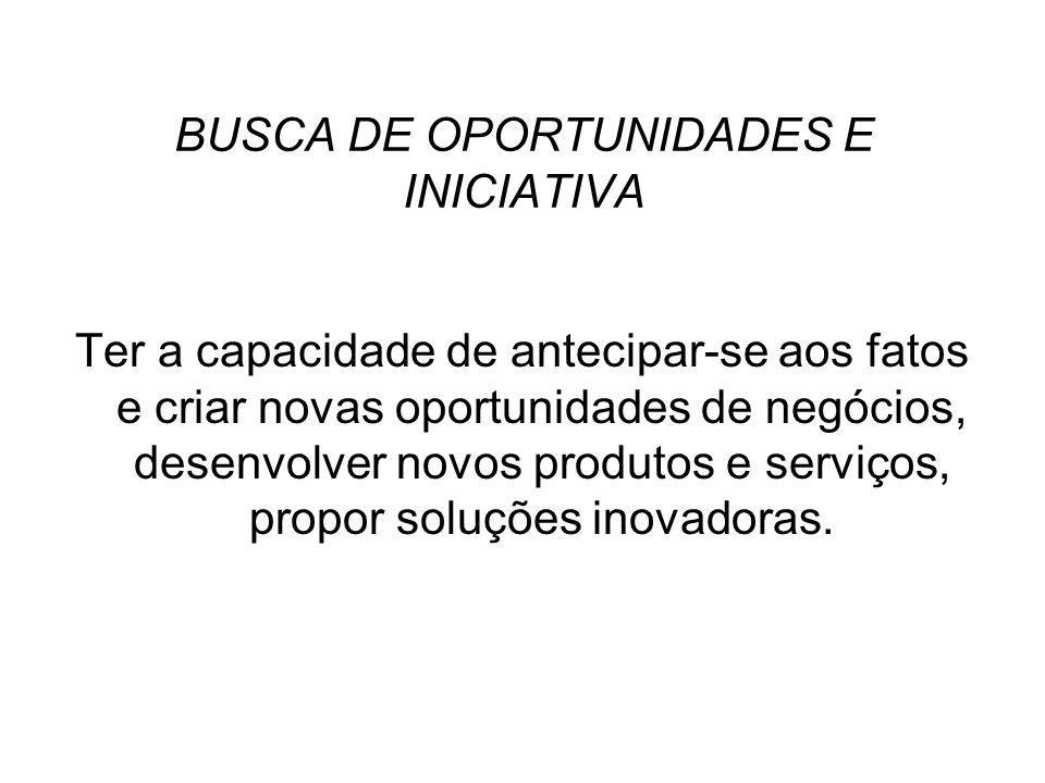 BUSCA DE OPORTUNIDADES E INICIATIVA