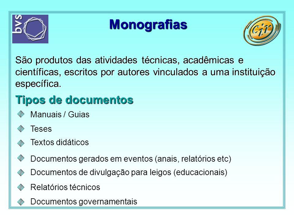 Monografias Tipos de documentos
