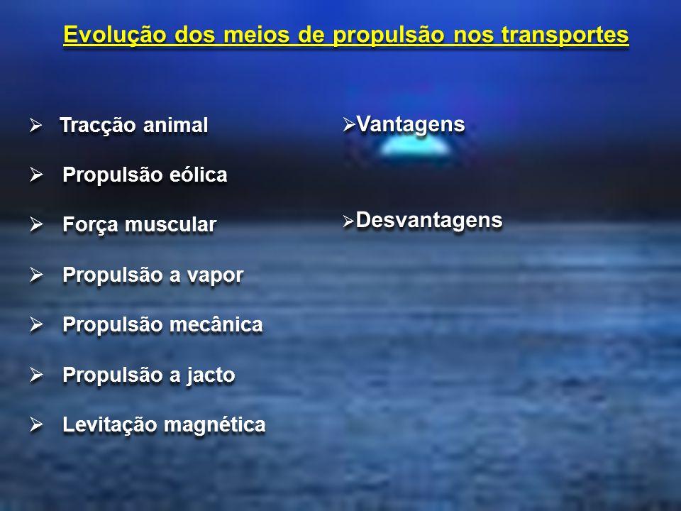 Evolução dos meios de propulsão nos transportes