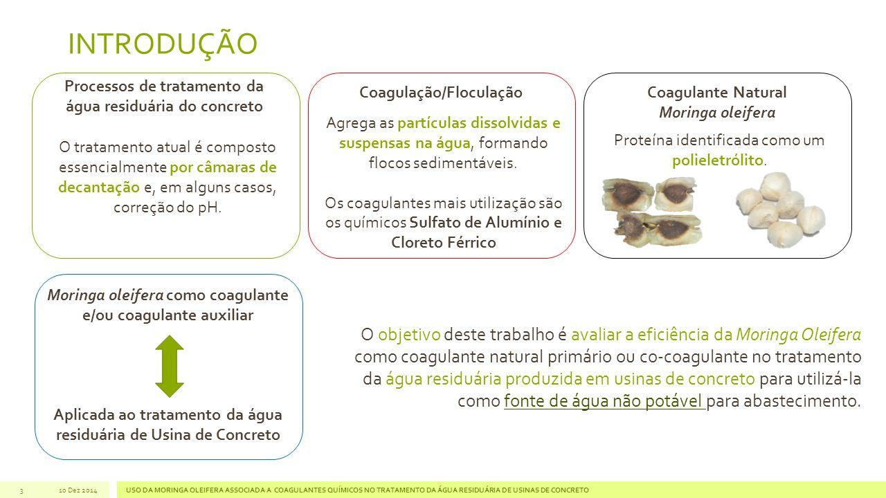 Processos de tratamento da água residuária do concreto