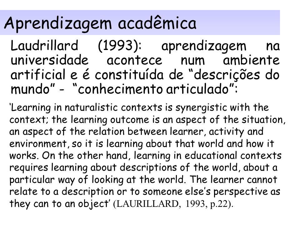 Aprendizagem acadêmica