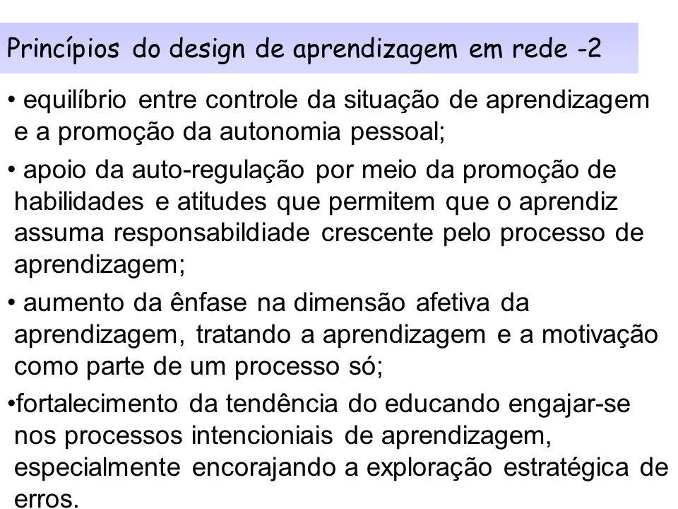 Princípios do design de aprendizagem em rede -2