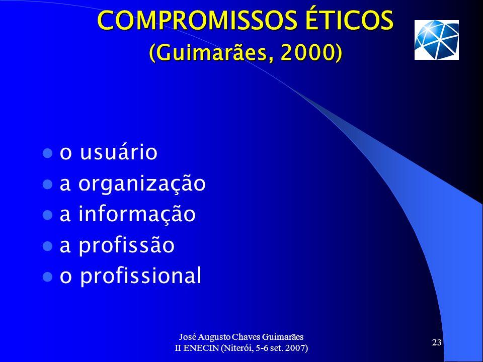 COMPROMISSOS ÉTICOS (Guimarães, 2000)