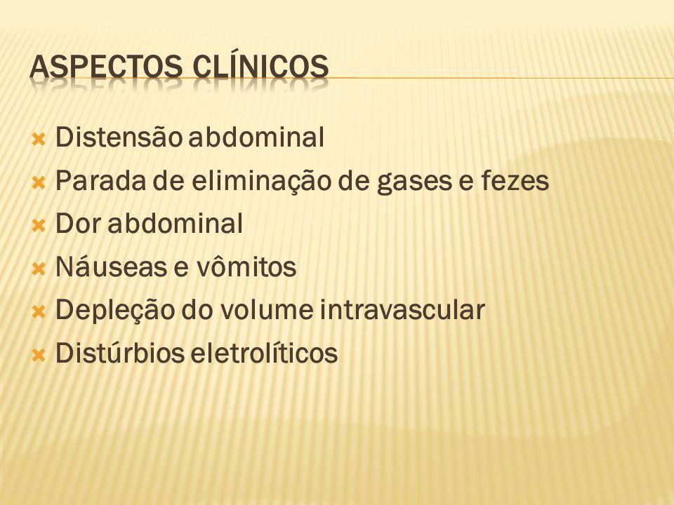 Aspectos clínicos Distensão abdominal