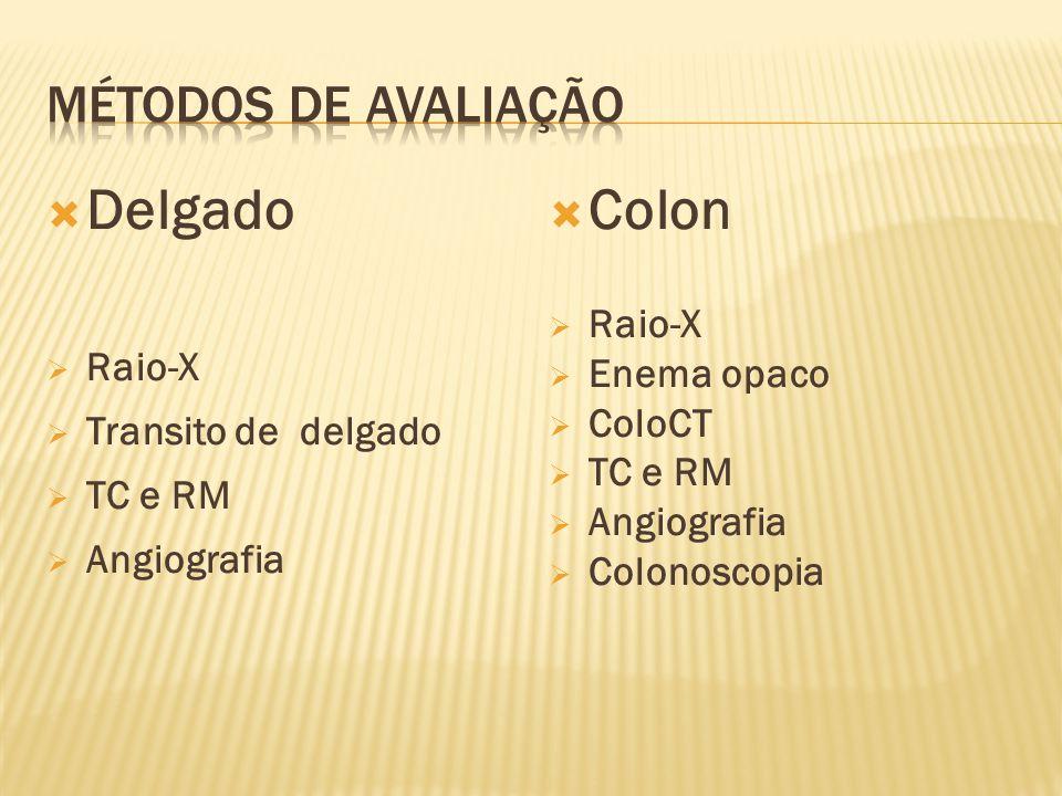 Delgado Colon Métodos de avaliação Raio-X Enema opaco