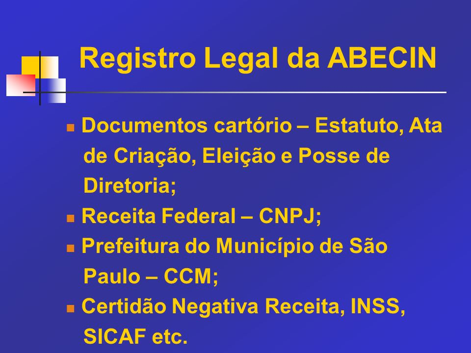 Registro Legal da ABECIN