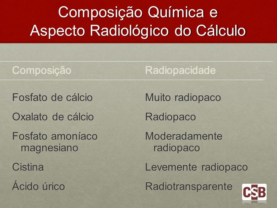Composição Química e Aspecto Radiológico do Cálculo