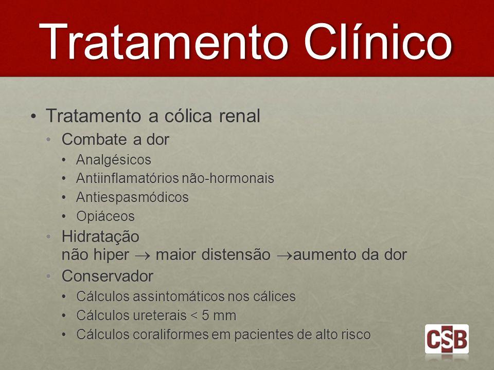 Tratamento Clínico Tratamento a cólica renal Combate a dor
