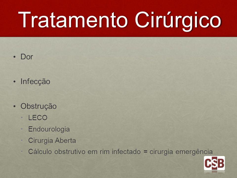 Tratamento Cirúrgico Dor Infecção Obstrução LECO Endourologia