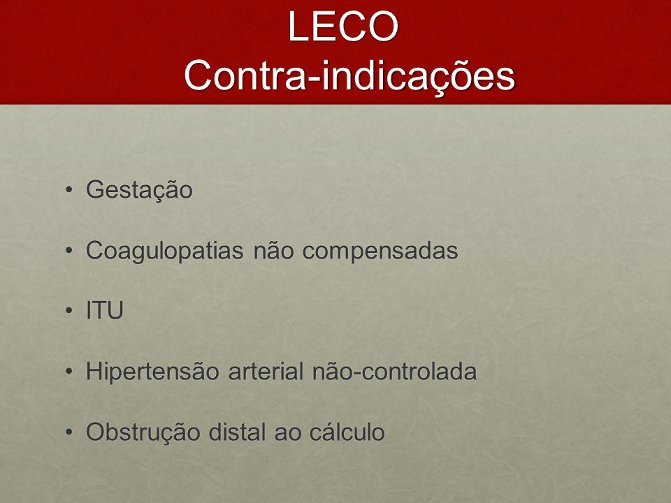 LECO Contra-indicações