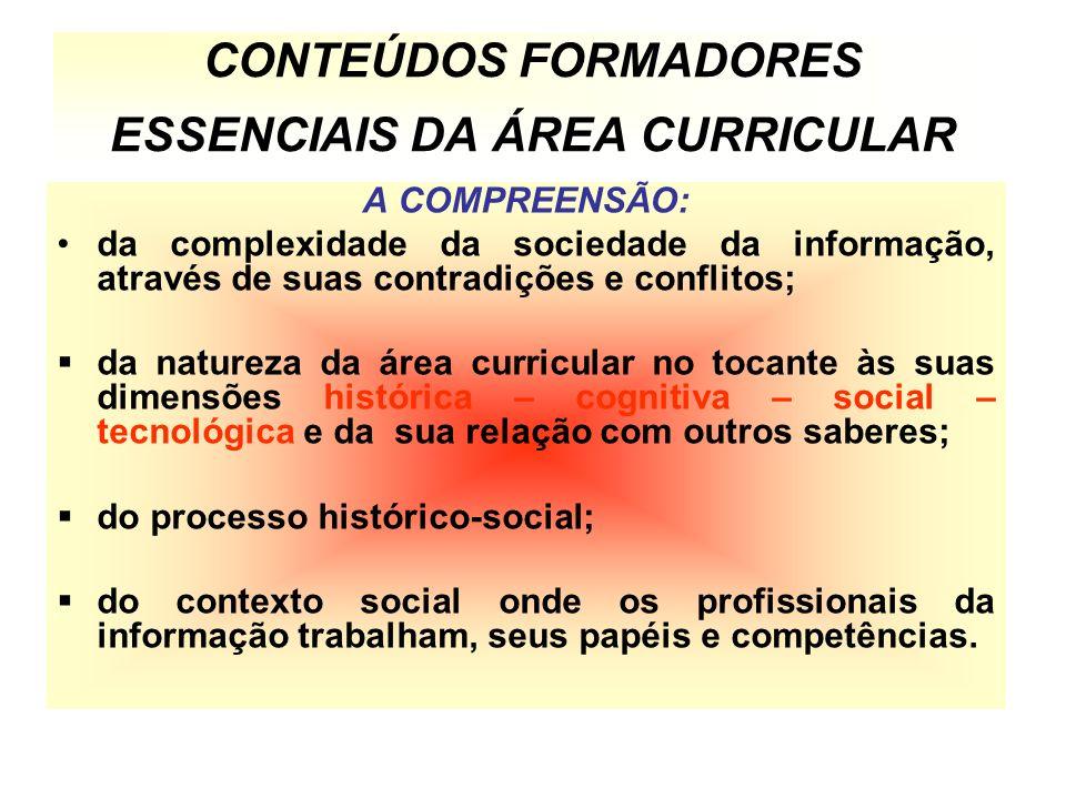 CONTEÚDOS FORMADORES ESSENCIAIS DA ÁREA CURRICULAR
