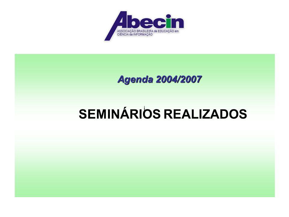 SEMINÁRIOS REALIZADOS