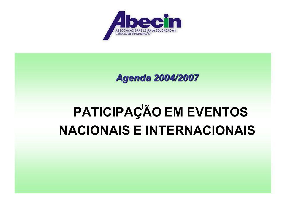 PATICIPAÇÃO EM EVENTOS NACIONAIS E INTERNACIONAIS