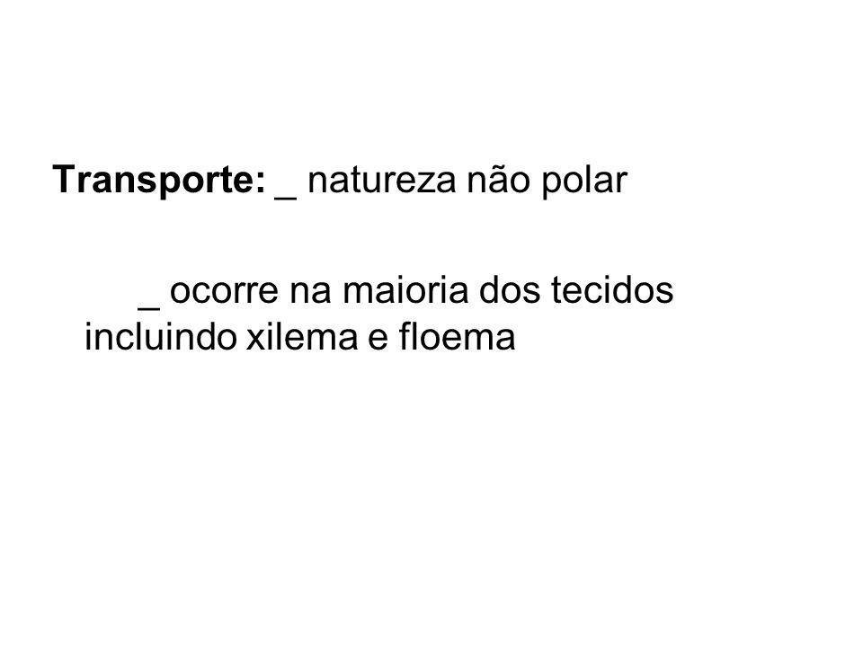 Transporte: _ natureza não polar