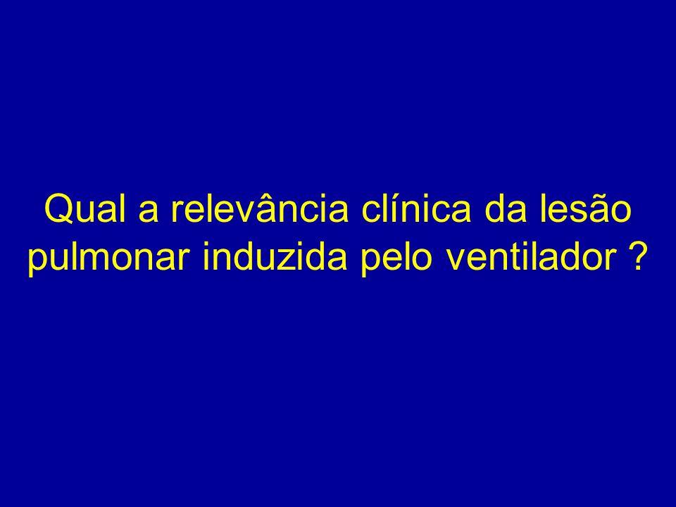 Qual a relevância clínica da lesão pulmonar induzida pelo ventilador