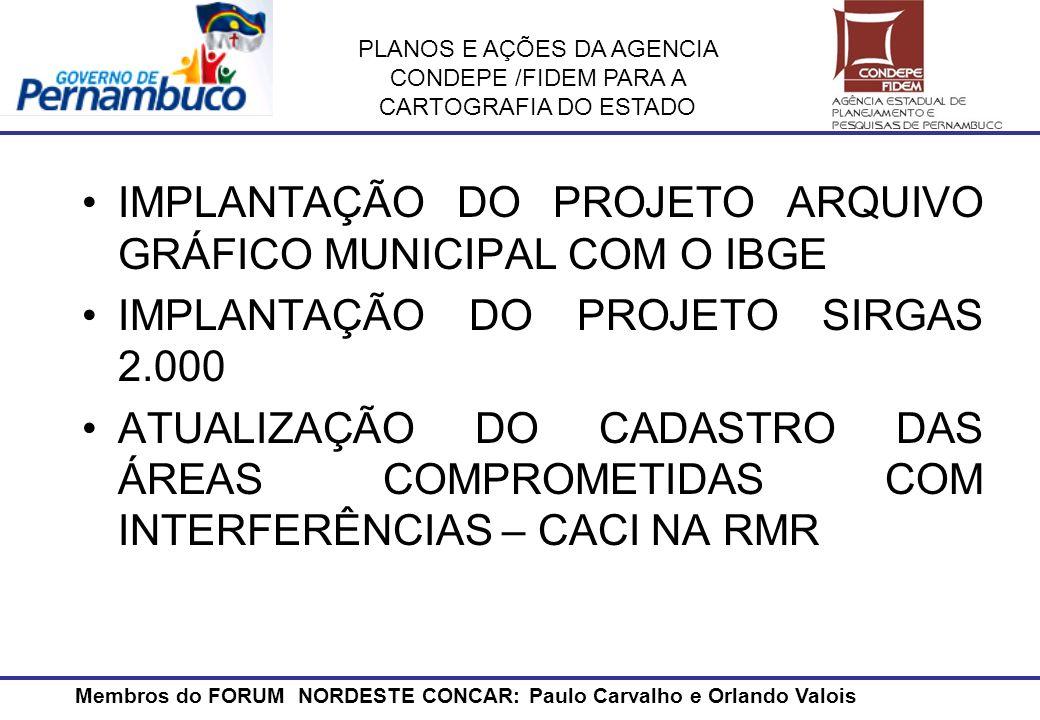 IMPLANTAÇÃO DO PROJETO ARQUIVO GRÁFICO MUNICIPAL COM O IBGE