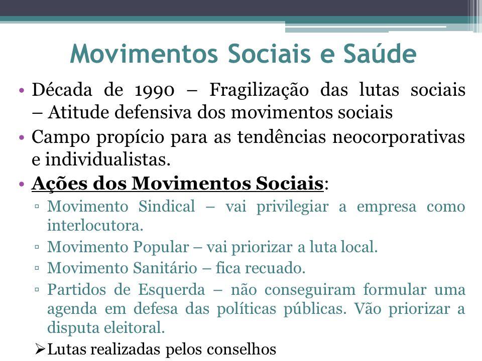 Movimentos Sociais e Saúde