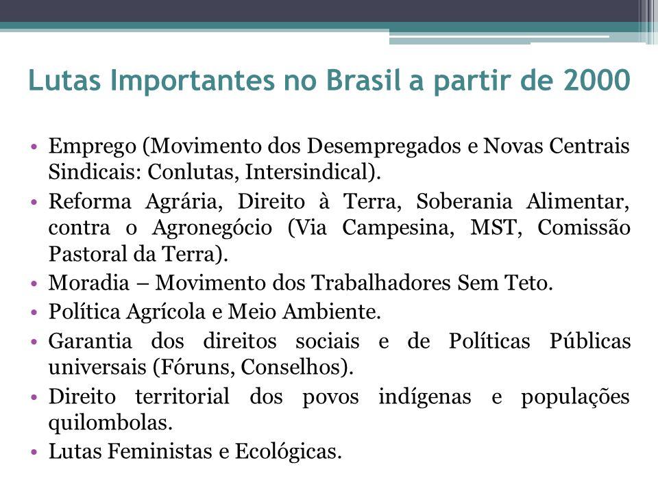 Lutas Importantes no Brasil a partir de 2000