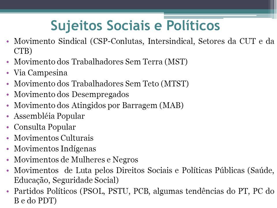 Sujeitos Sociais e Políticos