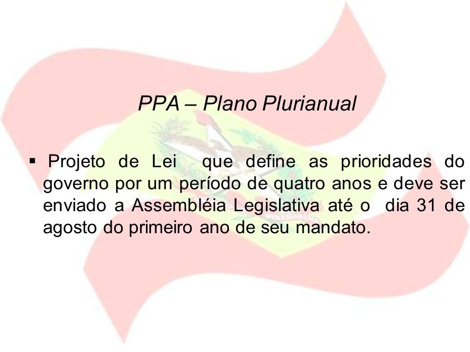 PPA – Plano Plurianual