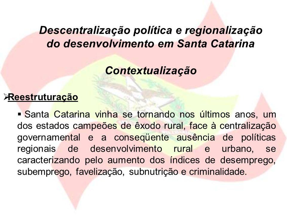 Descentralização política e regionalização do desenvolvimento em Santa Catarina