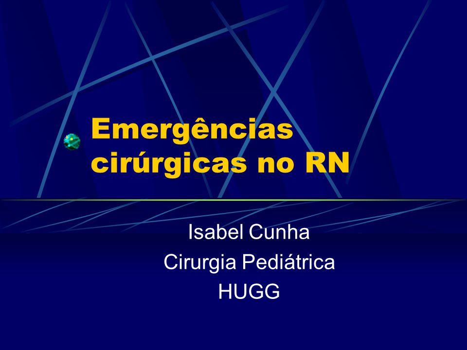 Emergências cirúrgicas no RN